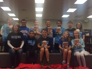 There were twelve students who participated in the Kahler Book Club. We read When You Reach Me by Rebecca Stead.